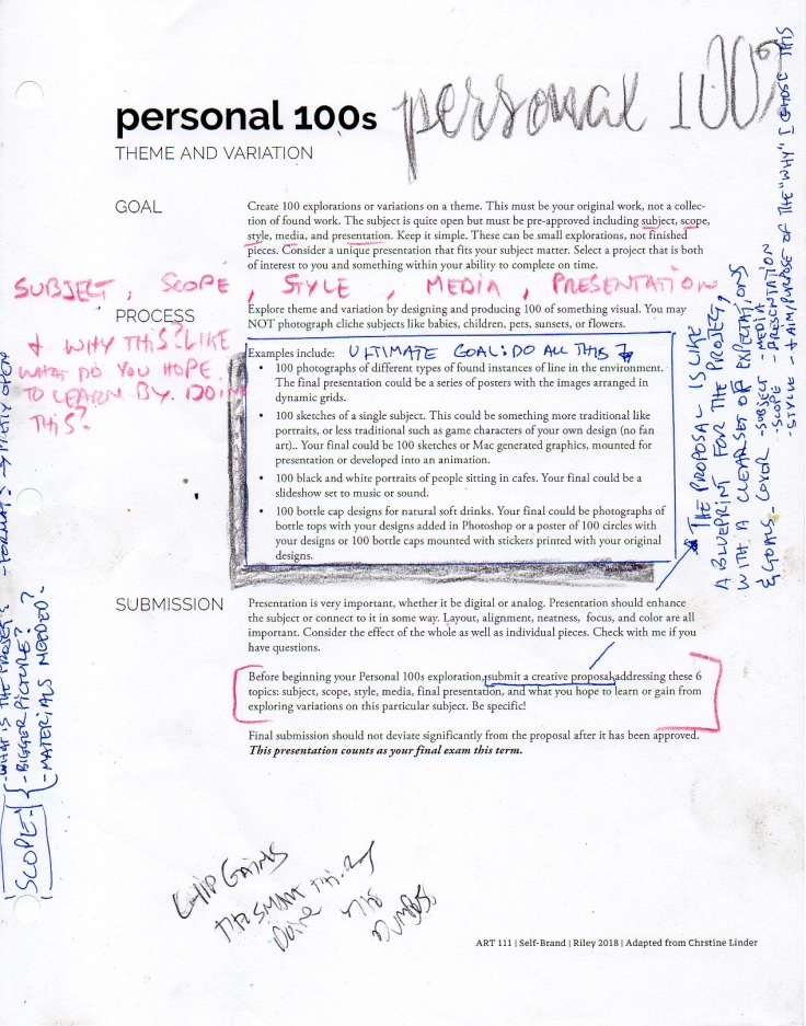 personal 100 project summary and overview.